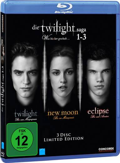 3er Box BD Die Twilight Saga 1-3 FSK: 12