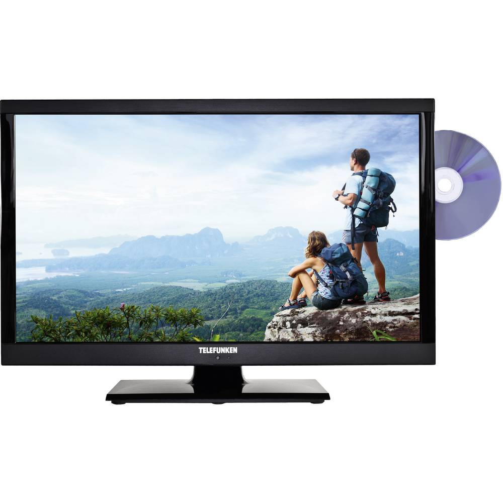 tv led 56 cm 22 telefunken l22f185i3 eek a dvb t dvb c dvb s full hd ci dvd player nero. Black Bedroom Furniture Sets. Home Design Ideas