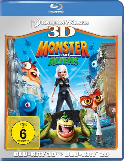 Monsters und Aliens 3D + 2D