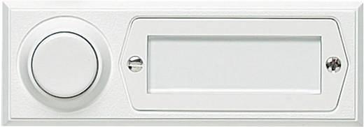 Klingeltaster mit Namensschild 1fach Grothe 51013 Weiß 12 V/1,5 A