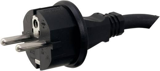 Strom Anschlusskabel [ Schutzkontakt-Stecker - Kabel, offenes Ende] Schwarz 5 m HAWA 1008260