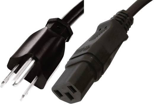 Kaltgeräte Anschlusskabel [ Japan-Stecker - Kaltgeräte-Buchse C13] Schwarz 2 m HAWA 1008265
