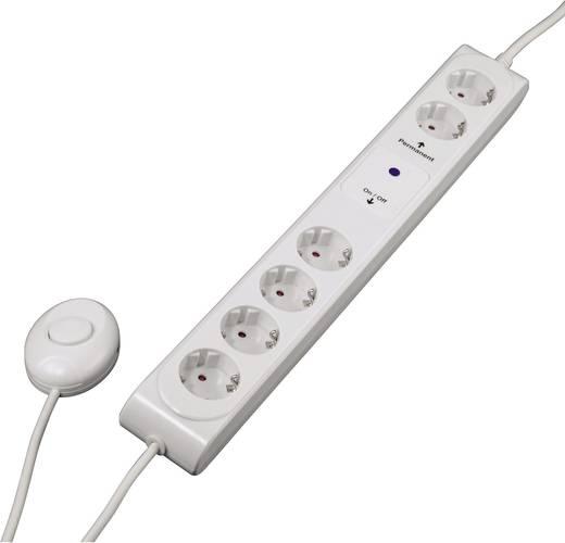 Steckdosenleiste mit Schalter 6fach Weiß Schutzkontakt Hama 00108839