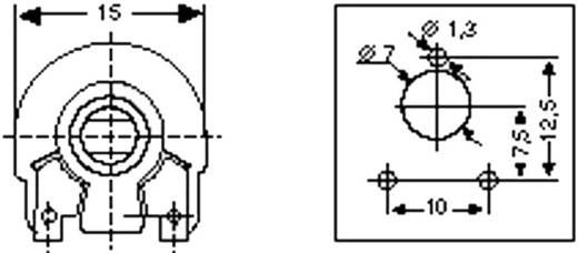 Trimmer linear 0.25 W 100 Ω 270 ° Piher PT 15 NV 100R 1 St.