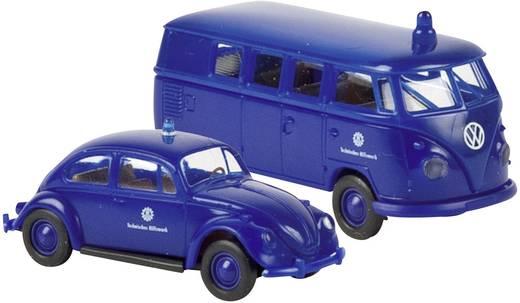 Brekina 99266 H0 Volkswagen (VW) THW-Set mit Käfer, T1b Kombi
