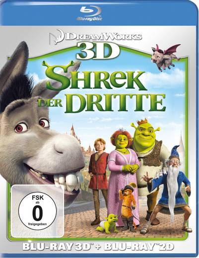 Shrek 3 - Shrek der Dritte 3D + 2D