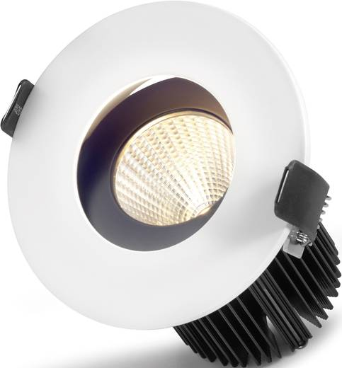 LED-Einbauleuchte 10 W Warm-Weiß Sygonix Egna 12559X Weiß