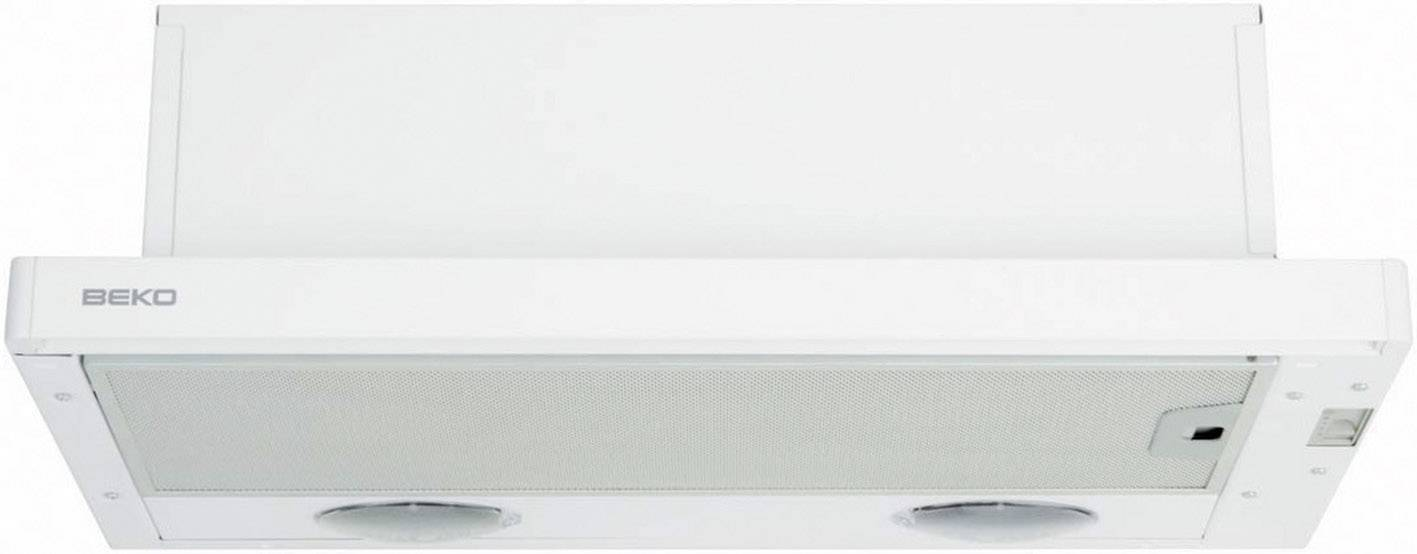 Unterbau Dunstabzugshaube 60 Cm BEKO CTB 6407 W 63 DB Edelstahl, Weiß