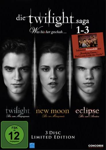 3er Box DVD Die Twilight Saga 1-3 FSK: 12