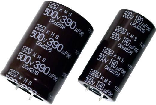 Elektrolyt-Kondensator SnapIn 10 mm 390 µF 400 V 20 % (Ø x L) 25.4 mm x 45 mm Europe ChemiCon EKMR401VSN391MQ45S 200 St