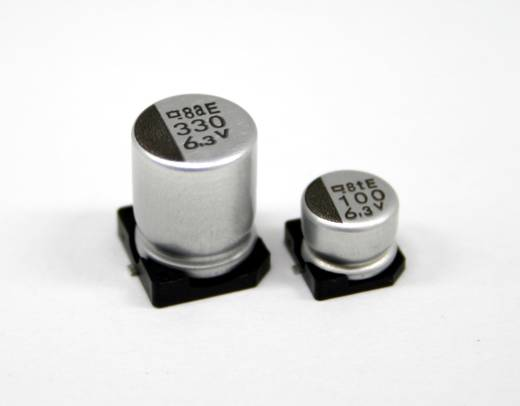 Europe ChemiCon EMVA350ADA331MJA0G Elektrolyt-Kondensator SMD 330 µF 35 V 20 % (Ø x L) 10 mm x 10 mm 500 St.
