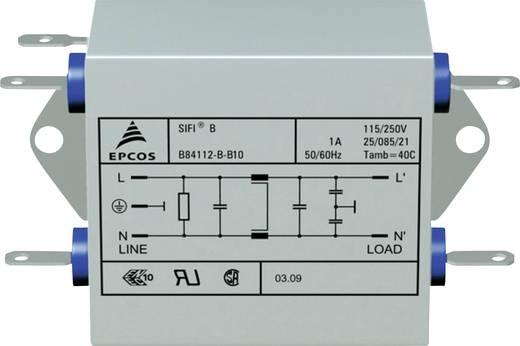 Entstörfilter 250 V/AC 10 A 1.8 mH (L x B x H) 105 x 84 x 38.1 mm Epcos B84112B0000B110 1 St.