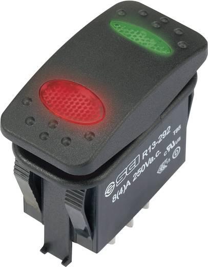 Wippschalter 250 V/AC 8 A 1 x Ein/Aus/Ein SCI R13-292D6-01-BBRG-22RG0500 IP67 rastend 1 St.