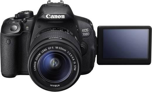 digitale spiegelreflexkamera canon eos 700d kit inkl ef s 18 55 mm is 18 0 mio pixel schwarz. Black Bedroom Furniture Sets. Home Design Ideas