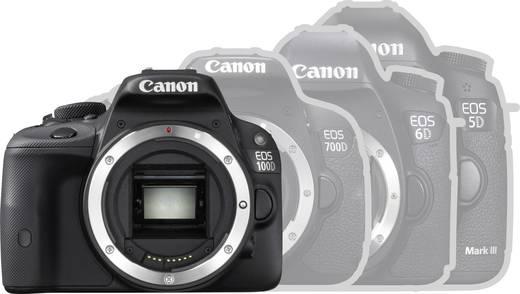 digitale spiegelreflexkamera canon eos 100d 18 0 mio pixel schwarz full hd video touch screen. Black Bedroom Furniture Sets. Home Design Ideas