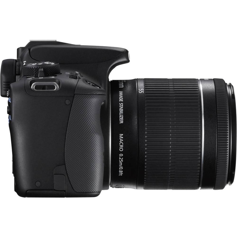 digitale spiegelreflexkamera canon eos 100d inkl ef s 18 55 mm is 18 0 mio pixel schwarz full. Black Bedroom Furniture Sets. Home Design Ideas