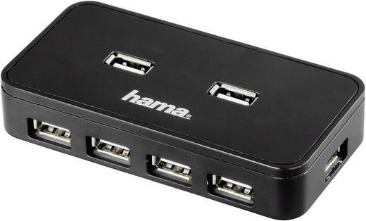Hama 7 Port USB 2.0-Hub Schwarz