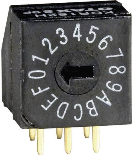 Kodierschalter Hexadezimal 0-9/A-F Schaltpositionen 16 OTAX KDR162H 45 St.