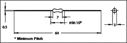 HF-Drossel axial bedrahtet 100 µH 3.5 Ω 0.17 A Fastron MICC-101K-02 1 St.