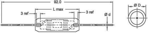Drossel axial bedrahtet 100 µH 0.18 Ω 2.5 A Fastron 77A-101M-00 1 St.