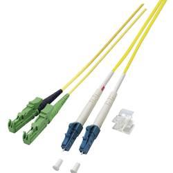 Optické vlákno EFB Elektronik O0937.3 [1x zástrčka E2000®/APC 8° - 1x zástrčka LC], 3 m, žlutá