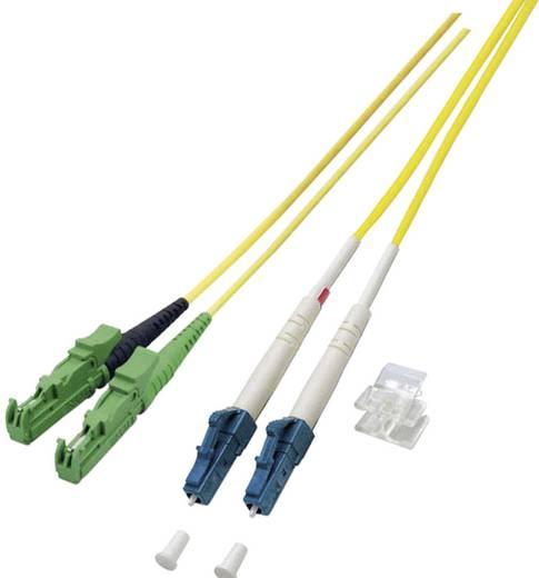 Glasfaser LWL Anschlusskabel [1x E2000®/APC 8°-Stecker - 1x LC-Stecker] 9/125µ Singlemode OS2 7.50 m EFB Elektronik