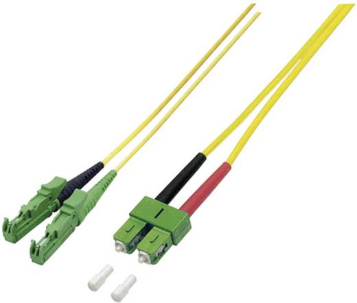 Glasfaser LWL Anschlusskabel [1x E2000®/APC 8°-Stecker - 1x SC/APC 8°-Stecker] 9/125µ Singlemode OS2 10 m EFB Elektronik