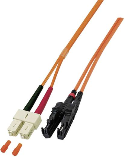 Glasfaser LWL Anschlusskabel [1x E2000®-Stecker - 1x SC-Stecker] 50/125µ Multimode OM3 10 m EFB Elektronik