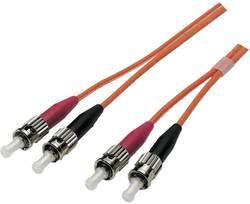 Optické vlákno EFB Elektronik O6013.1 [1x ST zástrčka - 1x ST zástrčka], 1 m, oranžová
