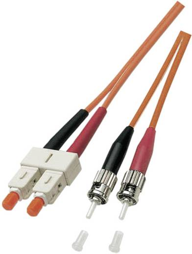 EFB Elektronik Glasfaser LWL Anschlusskabel [1x ST-Stecker - 1x SC-Stecker] 50/125µ Multimode OM2 1 m