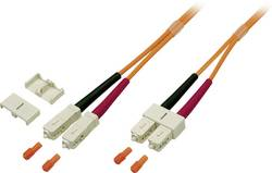 Optické vlákno optické vlákno kabel EFB Elektronik O6413.1 [1x zástrčka SC - 1x zástrčka SC], 1 m, oranžová
