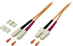 Optické vlákno optické vlákno kabel EFB Elektronik O6413.5 [1x zástrčka SC - 1x zástrčka SC], 5 m, oranžová