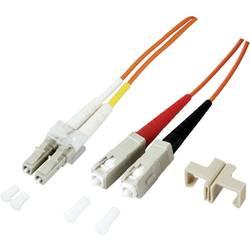 Optické vlákno EFB Elektronik O0320.1 [1x zástrčka LC - 1x zástrčka SC], 1 m, oranžová