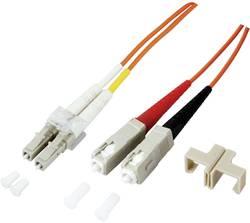 Optické vlákno optické vlákno kabel EFB Elektronik O0320.1 [1x zástrčka LC - 1x zástrčka SC], 1 m, oranžová
