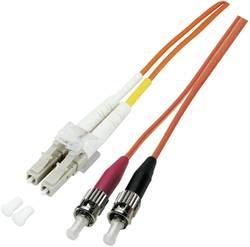 Optické vlákno EFB Elektronik O0321.1 [1x zástrčka LC - 1x ST zástrčka], 1 m, oranžová