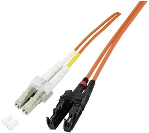Glasfaser LWL Anschlusskabel [1x LC-Stecker - 1x E2000®-Stecker] 50/125µ Multimode OM3 1 m EFB Elektronik