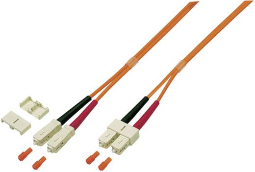 Glasfaser LWL Anschlusskabel [1x SC-Stecker - 1x SC-Stecker] 50/125µ Multimode OM3 5 m EFB Elektronik