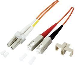 Optické vlákno EFB Elektronik O0314.1 [1x zástrčka LC - 1x zástrčka SC], 1 m, tyrkysová