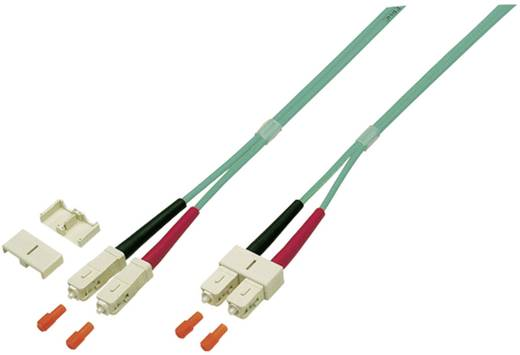 Glasfaser LWL Anschlusskabel [1x SC-Stecker - 1x SC-Stecker] 50/125µ Multimode OM4 15 m EFB Elektronik