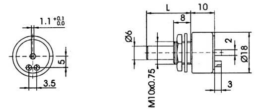 Cermet-Potentiometer Mono 2 W 10 kΩ TT Electronics AB 2101803545 1 St.