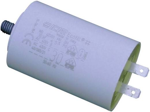 MKP-Motorkondensator Steckanschluss 30 µF 450 V/AC 5 % (Ø x H) 45 mm x 71 mm WB40300/A 1 St.