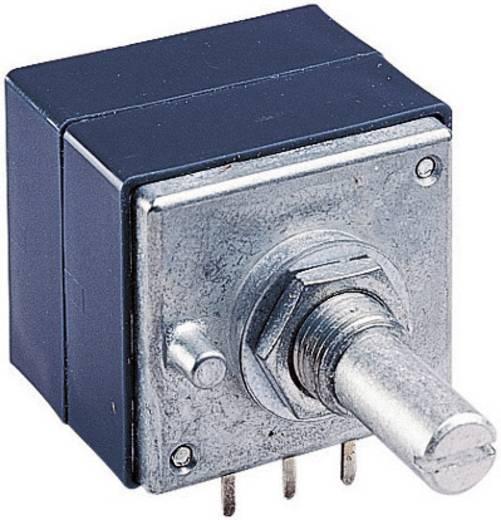 Dreh-Potentiometer staubdicht, mit Mittelrasterung Stereo 0.05 W 50 kΩ ALPS RK27112 50KBX2CC 1 St.