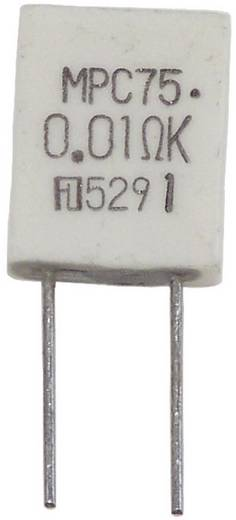 Metallschicht-Widerstand 0.01 Ω radial bedrahtet MPC75 5 W Fukushima Futaba MPC75 5W 0,01 Ohm 10% 10 % 1 St.