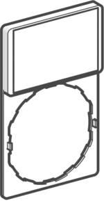 Porte-étiquette Schneider Electric ZBZ32 (L x l) 30 mm x 40 mm noir, rouge 1 pc(s)
