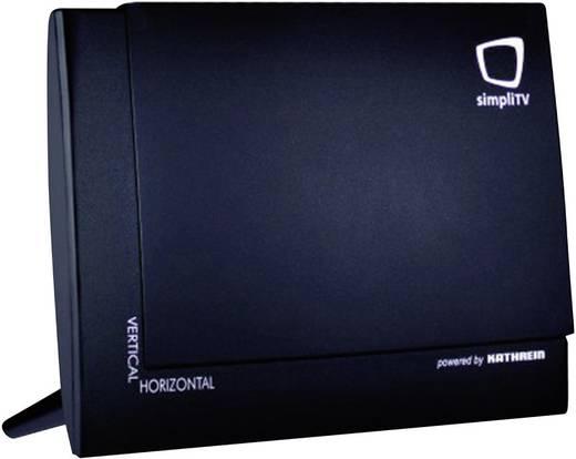 Aktive DVB-T/T2 Flachantenne SimpliTV Antenne Innenbereich Schwarz