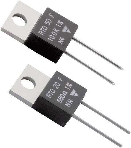 Hochlast-Widerstand 10 Ω axial bedrahtet TO-220 20 W Vishay RTO 20 F 1 % 1 St.