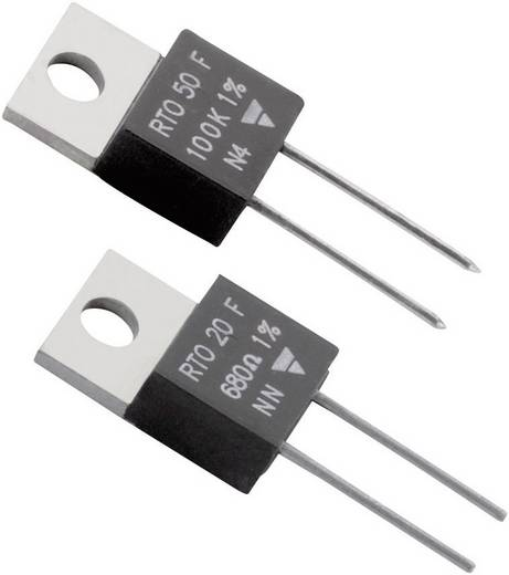 Hochlast-Widerstand 220 Ω axial bedrahtet TO-220 20 W Vishay RTO 20 F 1 St.
