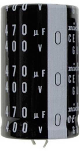 Elektrolyt-Kondensator SnapIn 10 mm 100 µF 450 V 20 % (Ø x L) 25 mm x 30 mm Nichicon LGU2W101MELA 1 St.