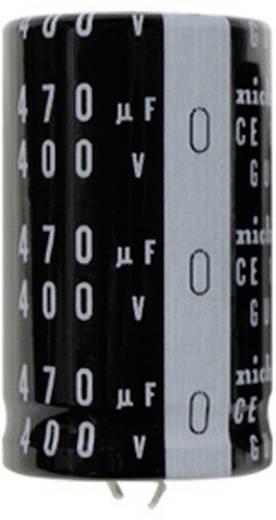 Elektrolyt-Kondensator SnapIn 10 mm 2200 µF 100 V/DC 20 % (Ø x L) 25 mm x 50 mm Nichicon LGU2A222MELA 1 St.