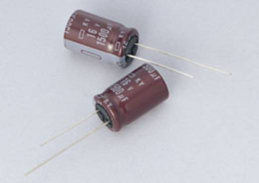 Elektrolyt-Kondensator radial bedrahtet 7.5 mm 10000 µF 10 V/DC 20 % (Ø x L) 16 mm x 40 mm Europe ChemiCon EKY-100ELL10